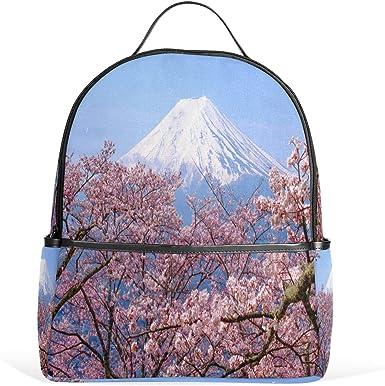 Amazon Com Olinyou Japan Spring Season Cherry Blossom Mt Fuji Backpack School Book Bag Daypacks Shoulder Bags Rucksack For Boys Girls Students Clothing
