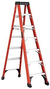 Louisville Ladder FS1407HD Fiberglass Step ladde3r, 7-Feet, Orange