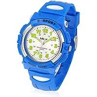 Relojes Niños, Reloj de Pulsera para Niños y Niñas Impermeable Reloj Deportivo de Cuarzo