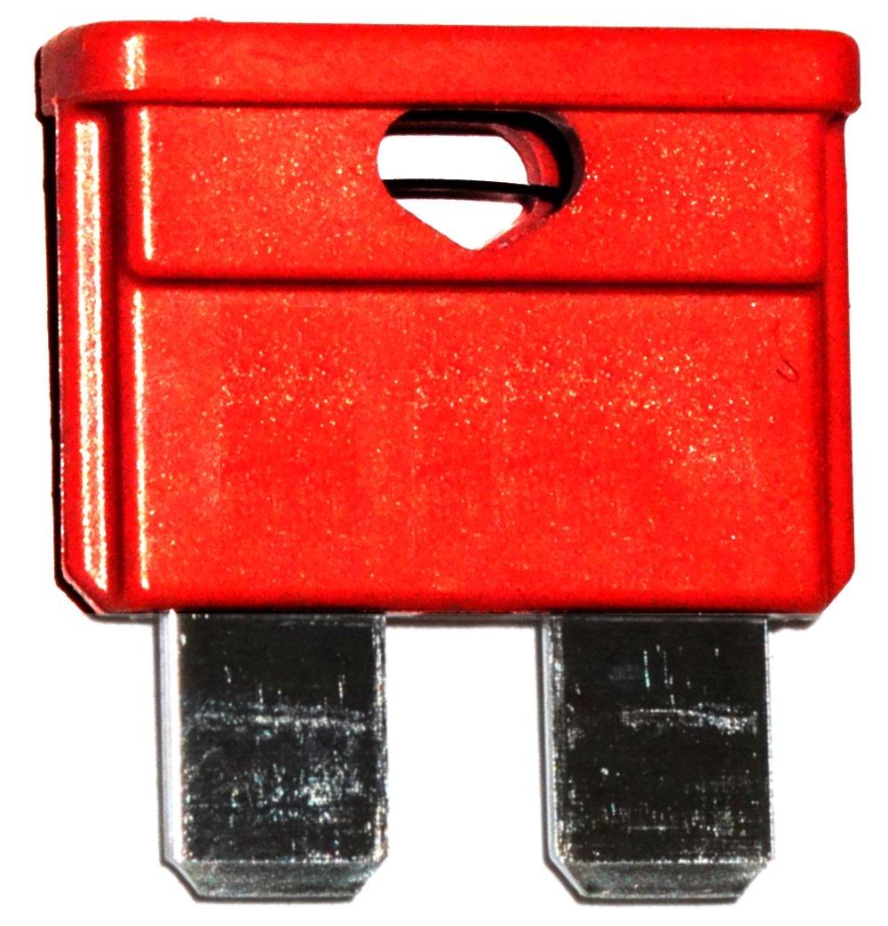 moto veicoli pesanti camion 32V per auto colore rosso . Aerzetix 10 Fusibili 10A midi 19mm 6V 24V 12V