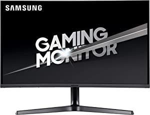 Samsung 27-Inch CJG56 144Hz Curved Gaming Monitor (LC27JG56QQNXZA) – WQHD Computer Monitor, 2560 x 1440p Resolution, 4ms Response, Game Mode, HDMI, AMD FreeSync