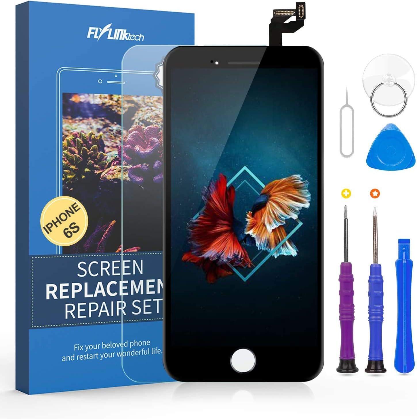 FLYLINKTECH Pantalla Táctil LCD Reemplazo para iPhone 6s Negro 4.7