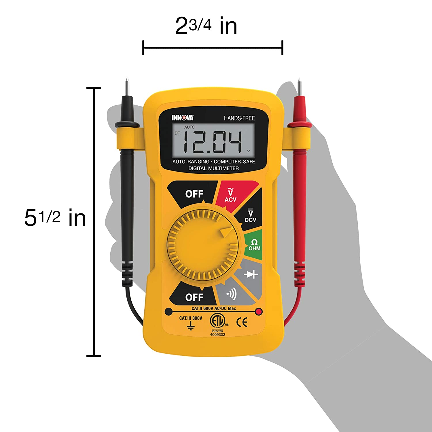 Innova 3300 Hands Free Digital Multimeter 10 Megohm Circuit Tester If Further Assistance Is Needed Our Certified Car Automotive