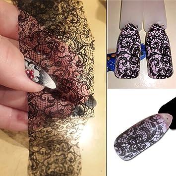 Amazon 1 Sets Sexy Black Lace Nail Art Sticker Diy Manicure