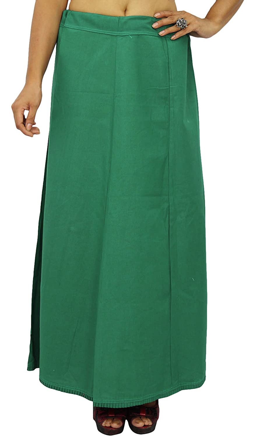 Inskirt Lining For Sari Ethnic Indian Ready-Made Solid Cotton Petticoat