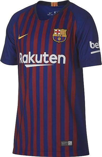 Nike FCB Y Nk BRT Stad JSY SS Hm Camiseta, Unisex niños: Amazon.es ...