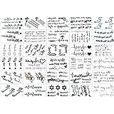 Tatouages Temporaires Unisexes Tattoos Éphémères Personnalisé 30 Feuilles Autocollants de Tatouage Imperméable à l'eau Faux Tatouage Visage Corps Autocollant Stickers (Étoiles de Dessin Animé) X 1