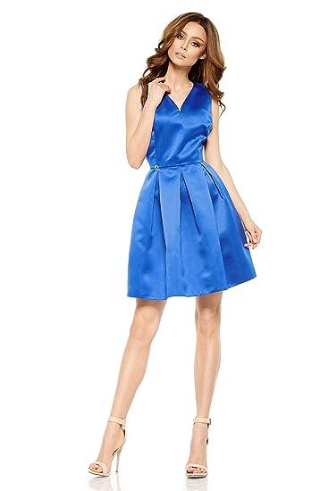 7fddbb12b3cd71 FLIKEFASHION-LEMONIADE Kleid Das ausgestellte Minikleid Farbe: schwarz Kleid  blau Kleid Puderrosa Kleid rot