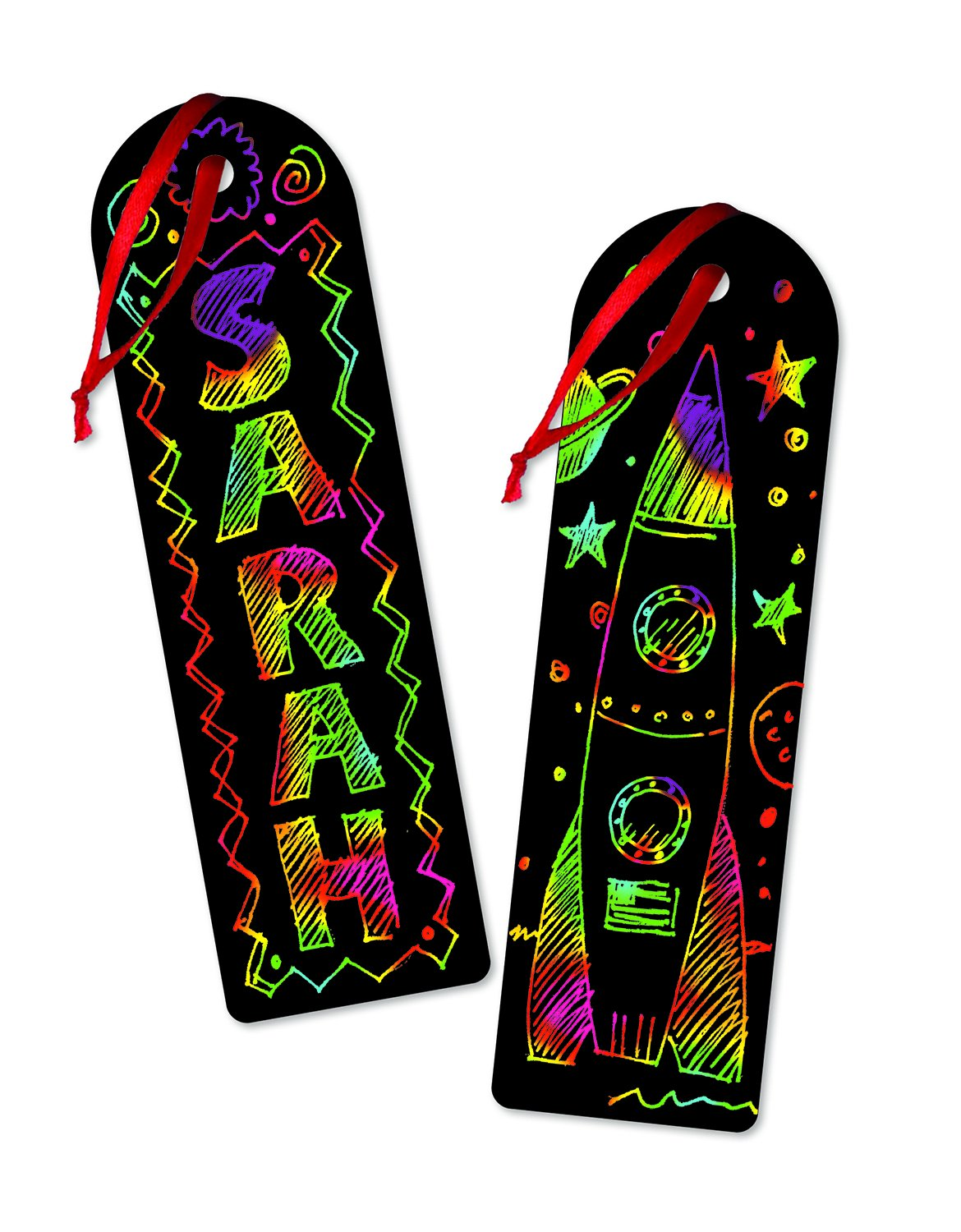 amazoncom melissa doug scratch art bookmark party pack activity kit 12 bookmarks melissa doug toys games