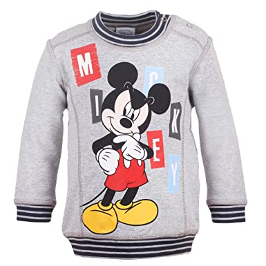 DISNEY Niños Mickey Mouse Sudadera, gris vigore claro, talla 92, 2 años: Amazon.es: Ropa y accesorios