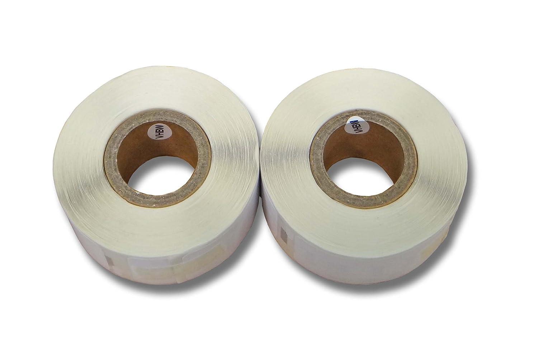 2x vhbw Etikettenband Beschriftungsband 25x54mm für Seiko Smart Label Printer SLP620, SLP650 wie 11352.