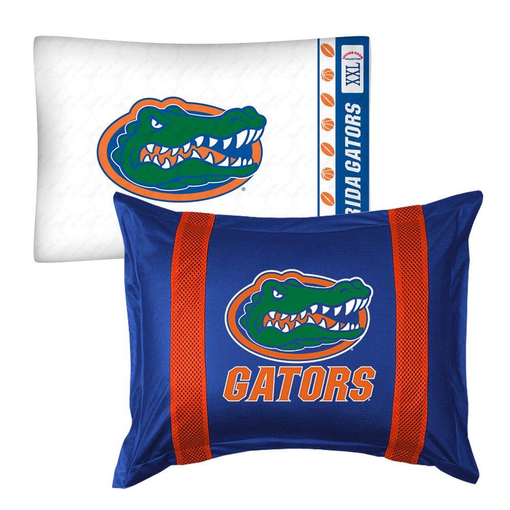 2pc NCAA Florida Gators Pillowcase and Pillow Sham Set College Team Logo Bedding Accessories