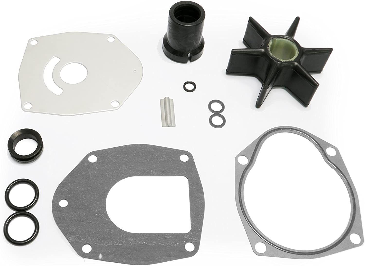 PumuHo Mariner Mercury Mercruiser Alpha One Gen 2 47-43026Q06 40-250 HP Water Pump Repair Kit Outboard Impeller Sierra 18-3214 47-43026T11 47-8M0100526
