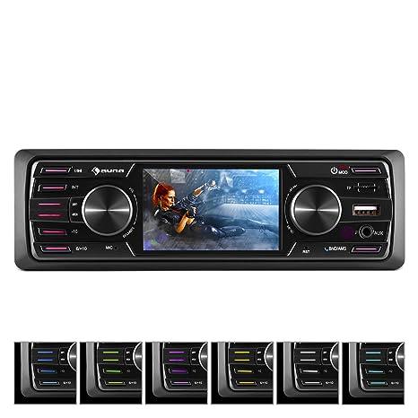 auna MD-550BT • Radio para Coche • Hi-Fi Set • Bluetooth • Pantalla TFT ...