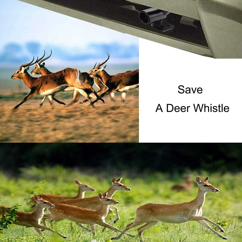 Deer Alert for Vehicles Avoids Deer Collisions Car Deer Warning Black Ultrasonic Wildlife Warning for Auto Motorcycle Truck SUV and ATV 4 Pcs
