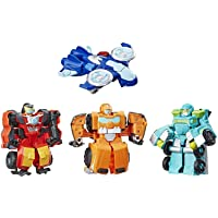 Playskool Heroes Transformers Rescue Bots Academy Academy Rescue Team Pack, 4 Collectible 4.5-inch Converting Action…
