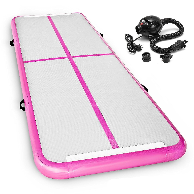 smarketbuy Airタンブルマットインフレータブルタンブルマット体操インフレータブルジムマットタンブルエアトラックホームの使用とトレーニング B07D9FWH1Z Pink 10 x 3 ft with pump