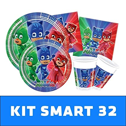 PJ Masks Kit TIPILIANO para NIÑOS | Birthday Party Kit ...