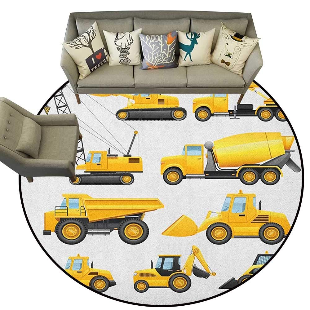 Style06 Diameter 78(inch& xFF09; Boys,Personalized Floor mats Abstract Transportation Types for Toddlers Car Ship Truck Scooter Train Aeroplane D54 Floor Mat Entrance Doormat