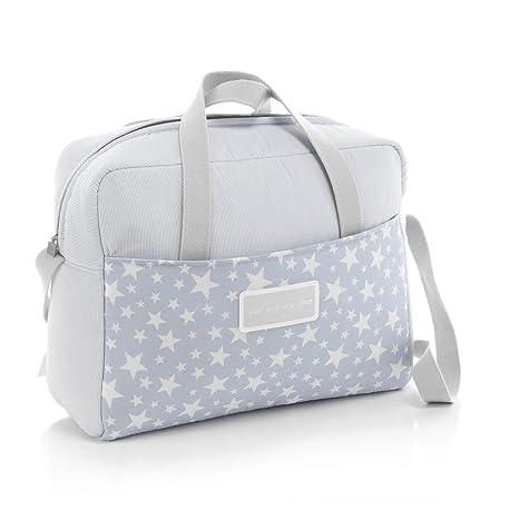 Cambrass Star - Bolso maternal tipo maleta, 32 x 39 x 17 cm, color azul celeste