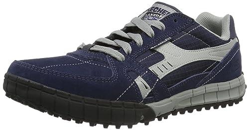Skechers Floater Zapatillas de piel para hombre, azul (NVGY), 39