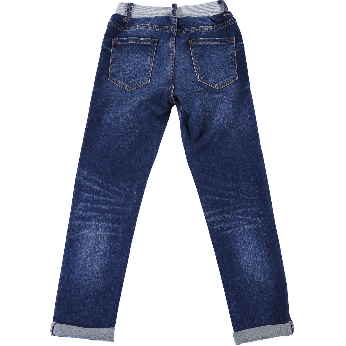 NABER Kids Girls Casual Slim Fit Elastic Waist Washed Denim Pants Jeans 4-14 Y