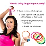 AerWo Bachelorette Party Dick Head Hoopla Ring Toss Game, Novelty Adult Games for Bridal Shower and Girls Night Out Hen Party Games