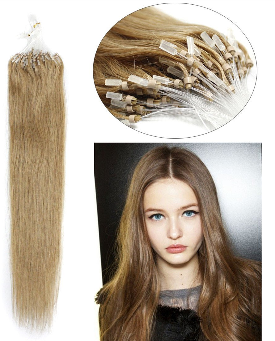 Yotty Hair Extensions Loop Micro Ring Bead Tip Remy Human Hair 100s