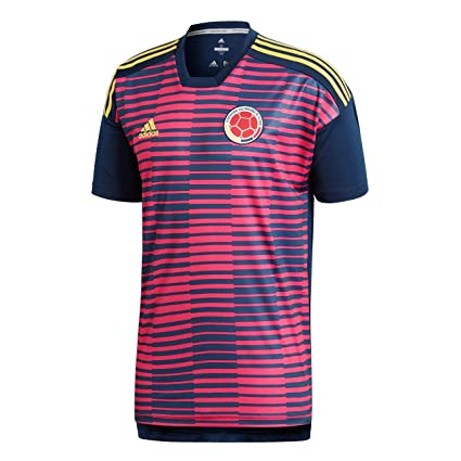 759991a56 adidas 2018-2019 Colombia Pre-Match Football Soccer T-Shirt Jersey (Pink