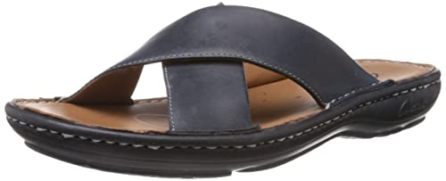3eef5f70df0f Clarks Men s Villa Sun Navy Leather Sandals and Floaters - 6.5UK India (40EU