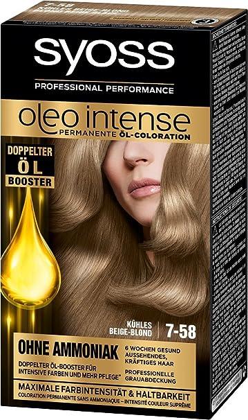 syoss Oleo Intense 7 – 58 fría Beige de Rubio Color del pelo (3 unidades, X 115 ml)