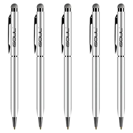 Fine Point Stylus Pen for Samsung Galaxy s8 plus HTC Tablets PC-Silver