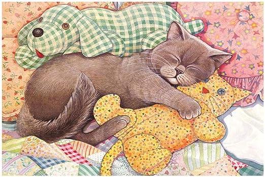 Puzzles Colección Gatos - Sleep Cat-1000 Pedazos del Rompecabezas ...