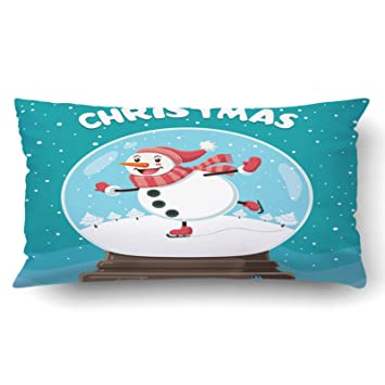 Amazon.com: emvency fundas de almohada Xmas Dec Vintage ...