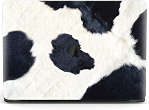 Mertak Hard Case for Apple MacBook Pro 16 Air 13 inch Mac 15 Retina 12 11 2020 2019 2018 2017 Laptop Texture Cattle Plastic Clear Print Cover Cow Cute Design Animal Touch Bar Black and White