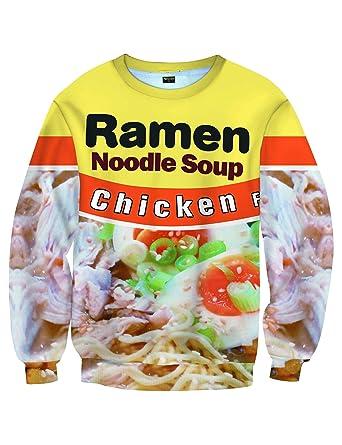 a66615d47233 PIZOFF Unisex Ramen Noodle Sweatshirt 3D Print Pullover Sweatshirts  AM070-01-S-Z