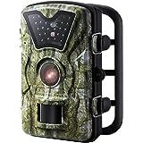 VicTsing Fotocamera da Caccia, Macchine Fotografiche da Caccia 8MP con 24 LED Neri IP66 Impermeabile per Sorveglianza, Caccia, Sicurezza Domestica