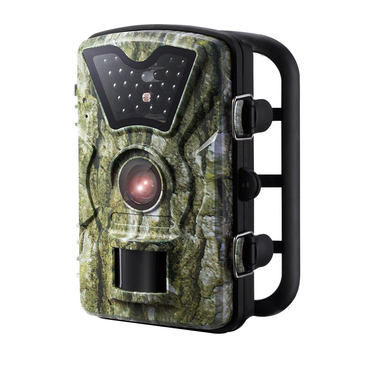 OMORC Wildkamera, 2.4 Zoll LCD Bildschirm, 8MP 720P HD Spiel und Jagd Wildlife Kamera, IP66 Wasserdichte Jagdkamera ideal für Wildlife Monitoring, Überwachung, Haus Sicherheit usw Überwachung WTGEOD116AB-0531