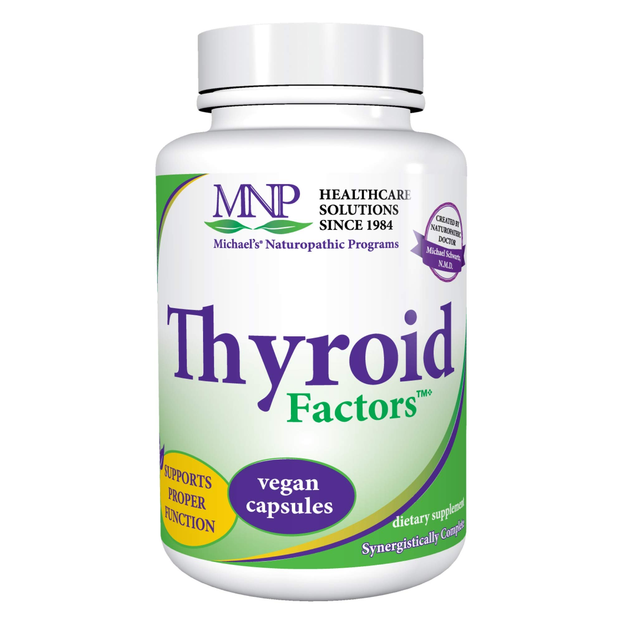 Michael's Naturopathic Programs Thyroid Factors - 120 Vegan Capsules - Thyroid Support Supplement, Promotes Production of Thyroxin & Triiodothyronine - Vegetarian, Kosher - 40 Servings