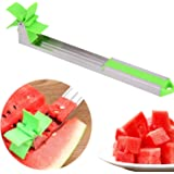 Ezonedeal Watermelon Windmill Cutter Stainless Steel Watermelon Slicer Fruit Tools Kitchen Gadgets Cutting Tools
