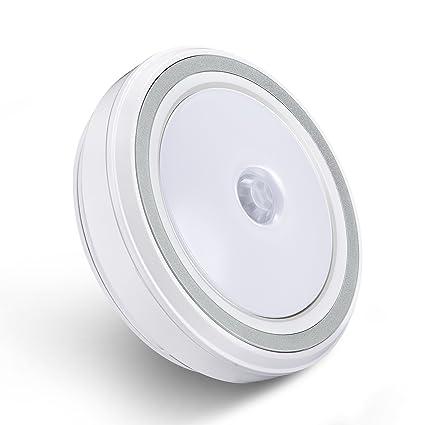 Liqoo® LED Luz de Noche Infantil con Sensor de Movimiento Adhesiva Inalámbrica Lámpara de Pared