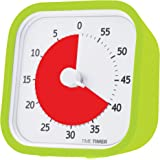 "Time Timer MOD (Lime Green), 60 minute Visual Analog Desktop Timer, Durable Silicone Case, Optional Alert (On / Off), Silent Operation (No Ticking), 3.5"" Square"