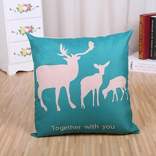 Domivon Almohada alce ciervo Impresión Impreso Sofá ...