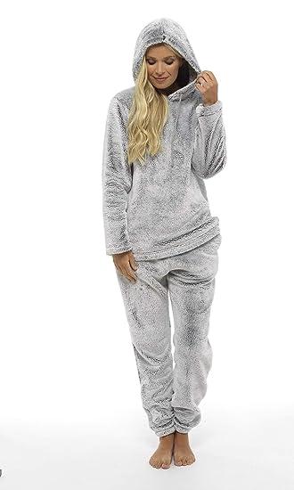 CityComfort Pijama Mujer Invierno Suave Cómodo con Plumas Prosecco Estrellas Vario Estilos Pijamas Invernal Regalo para Ella: Amazon.es: Ropa y accesorios