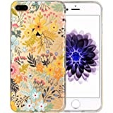 iPhone 7 Plus Case [Floral Pattern] KIMICO Premium Quality 3D UV Print Soft [Flexible TPU] Super Clear Scratch-Proof Protective Case for 5.5 inches iPhone 7 Plus (Bliss 7+)