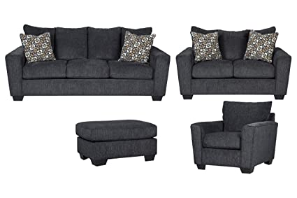 Amazon.com: Signature Design by Ashley Wixon Living Room Set with ...