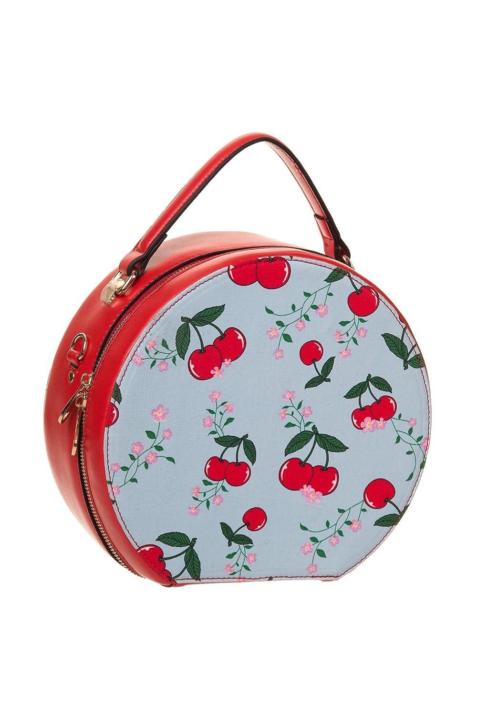 1950s Handbags, Purses, and Evening Bag Styles Banned Blindside Round Bag $46.95 AT vintagedancer.com