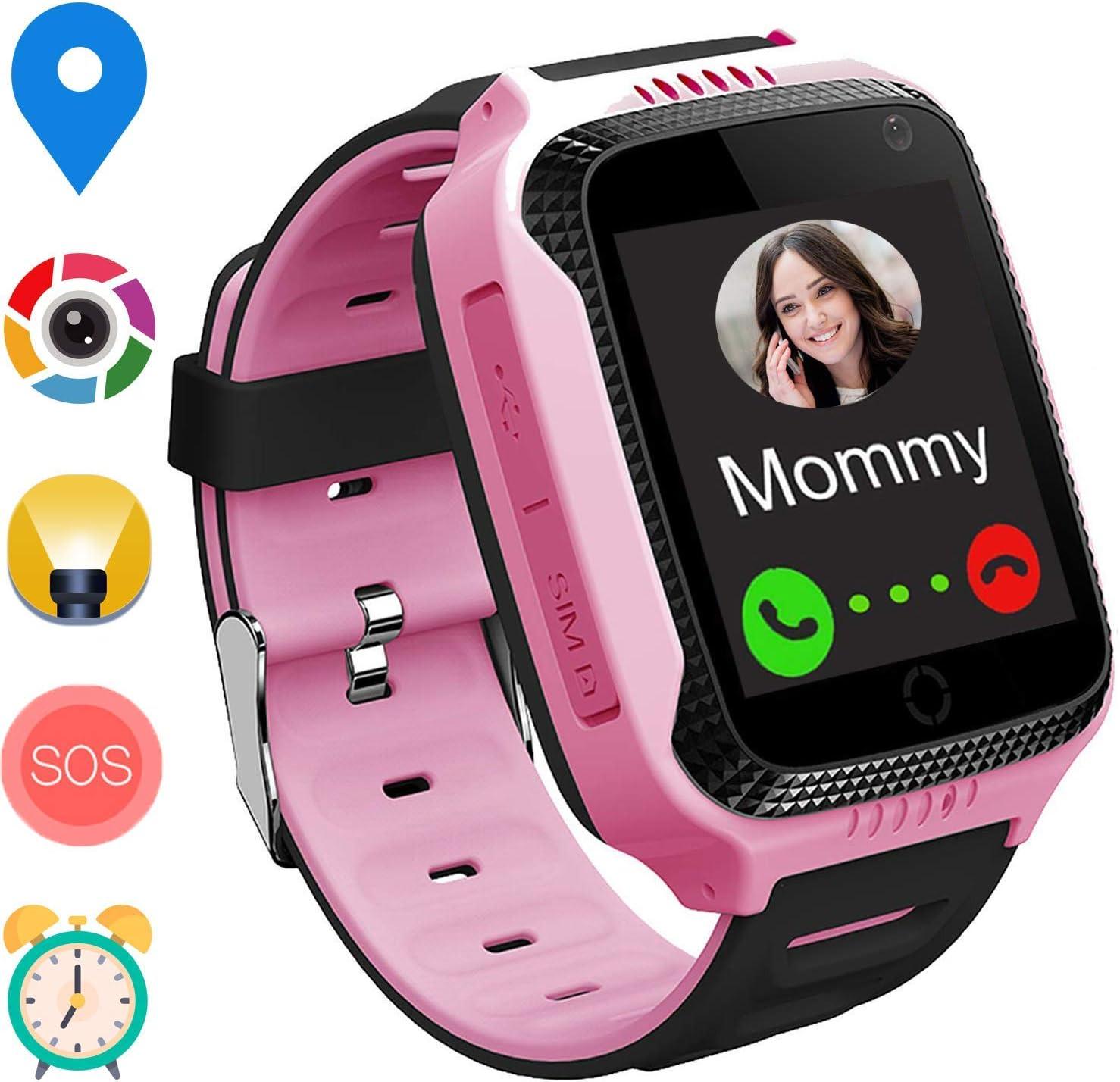 GPS Niños Smartwatch Phone - Tracker Watch Relojes para Niños con ...