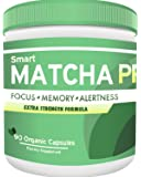 SmartMATCHA PRO - Whole food derived and augmented bioavailablility nootropics supplement with organic matcha all-Natural organic nootropic brain will improve focus, memory and alertness