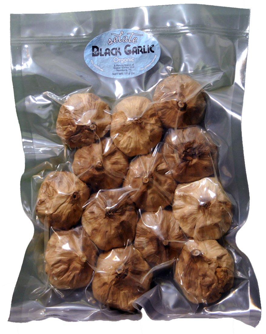 Organic Black Garlic - 13 Bulbs - 17.6 Oz. or 500 Grams